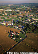 Southcentral Pennsylvania, Aerial Photographs Farmlands, Mixed Cultivation and Contour Farming, farm industry and residential, Cumberland County, PA