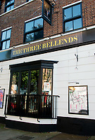 The James Atherton in New Brighton, The Wirral, rebranded temporarily after new coronavirus restrictions on the Liverpool region to mock the three tier rules and Matt Hancock, Boris Johnson, Dominic Cummings,