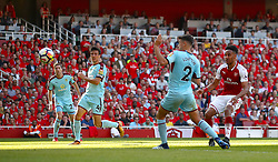Arsenal's Pierre-Emerick Aubameyang scores his side's fifth goal of the game