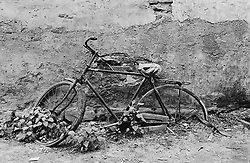 Old bicycle in a Beijing hutong