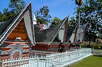 Indonesia, Sumatra. Samosir. Royal graves. The museum in Simanindo were originally the home of the Batak king Rajah Simalungun and his 14 wives.
