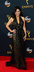 September 18, 2016 - Los Angeles, California, United States - Julia Louis-Dreyfus arrives at the 68th Annual Emmy Awards at the Microsoft Theater in Los Angeles, California on Sunday, September 18, 2016. (Credit Image: © Michael Owen Baker/Los Angeles Daily News via ZUMA Wire)