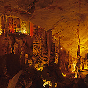 Interior detail of Grutas de Garcia. Nuevo Leon, Mexico.