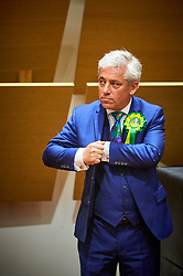 © Licensed to London News Pictures. 09/06/2017. Aylesbury, UK.  Speaker John Bercow waits to hear the result of the Buckingham constituency in the 2017 general election. Photo credit: Cliff Hide/LNP
