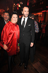 SUZY MENKES and TOM FORD at a Celebration of 10 Years of IHT Luxury Conferences during the International Herald Tribune Heritage Luxury Conference held at One Mayfair, 13 1/2 North Audley Streer, London on 9th November 2010.