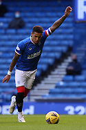 GOAL James Tavernier (Rangers) scores from the penalty spot during the Scottish Premiership match between Rangers and Ross County at Ibrox, Glasgow, Scotland on 4 October 2020.