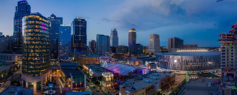 Sprint Center Arena, Power and Light District, Kansas City, Missouri downtown area.