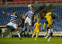 Reading's Michael Morrison (centre), Reading's Liam Moore (left) and Wycombe Wanderers' Anthony Stewart <br /> battles for possession<br /> <br /> Photographer David Horton/CameraSport<br /> <br /> The EFL Sky Bet Championship - Reading v Wycombe Wanderers - Tuesday  20th October 2020 - Madejski Stadium - Reading<br /> <br /> World Copyright © 2020 CameraSport. All rights reserved. 43 Linden Ave. Countesthorpe. Leicester. England. LE8 5PG - Tel: +44 (0) 116 277 4147 - admin@camerasport.com - www.camerasport.com