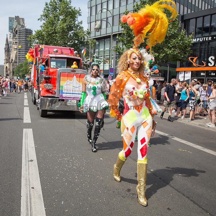 "Berlin, Germany - 23.07.2016<br /> <br /> Christopher Street Day 2016 in Berlin. Hundreds of thousands of people protesting and celebrating in Berlin Pride under motto ""Thanks for nothing""<br /> <br /> Christopher Street Day 2016 in Berlin. Hunderttausende Menschen protestieren und feiern bei der Berlin Pride unter Motto ""Danke fuer nix""<br /> <br /> Photo: Bjoern Kietzmann"