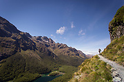 Mountains on Routeburn Track in New Zealand