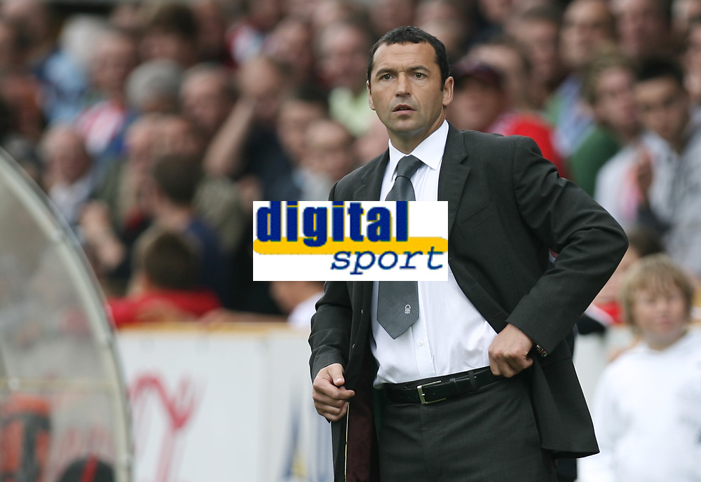 Photo: Rich Eaton.<br /> <br /> Cheltenham Town v Nottingham Forest. Coca Cola League 1. 13/10/2007. Forest's manager Colin Calderwood watches his team win 3-0 away.