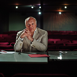 """PARIS, FRANCE. JULY 16, 2013. Theater author, director and novelist Eric-Emmanuel Schmitt at the Theatre Rive Gauche after a morning rehearsal of his new play, """"Miss Carpenter"""". Photo: Antoine Doyen"""