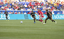 August 5, 2018 - Harrison, New Jersey, United States - Lee Nguyen (24) of LAFC controls ball during regular MLS game against Red Bulls at Red Bull Arena Red Bulls won 2 - 1 (Credit Image: © Lev Radin/Pacific Press via ZUMA Wire)