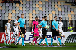 Players entering the pitch during football match between NS Mura and Vitesse (NED) in 1st round of UEFA Europa Conference League 2021/22, on 16 of September, 2021 in Ljudski Vrt, Maribor, Slovenia. Photo by Blaž Weindorfer / Sportida