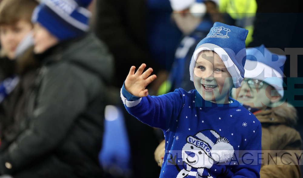 Everton fans before the English Premier League match at Goodison Park, Liverpool. Picture date: December 19th, 2016. Photo credit should read: Lynne Cameron/Sportimage