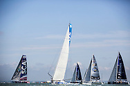The Artemis Challenge at Aberdeen Asset Management Cowes Week 2014. <br /> Starting line up<br /> FREE for editorial use. Credit: Lloyd Images