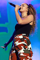 Ella Eyre performs at the Girlguiding Big Gig 2017,SSE Arena Wembley, London UK, 07 October 2017, Photo by Tejas Sandhu