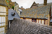 Rooftops at Mont Saint-Michel, Normandy, France
