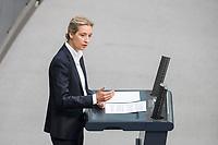 21 MAR 2019, BERLIN/GERMANY:<br /> Alice Weidel, AfD Fraktionsvorsitzende, haelt eine Rede, Bundestagsdebatte zur Regierungserklaerung der Bundeskanzlerin zum Europaeischen Rat, Plenum, Deutscher Bundestag<br /> IMAGE: 20190321-01-102
