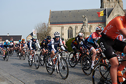 Trixi Worrack (GER) in the bunch at Gent Wevelgem - Elite Women 2019, a 136.9 km road race from Ieper to Wevelgem, Belgium on March 31, 2019. Photo by Sean Robinson/velofocus.com