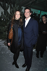 ARABELLA MUSGRAVE and the HON.JAMES TOLLEMACHE at a party to present the Fall/Winter Collection 2007/2008 of Moncler the French mountaineering brand held at 10 Mercer Street, London WC2 on 13th February 2007.<br /><br />NON EXCLUSIVE - WORLD RIGHTS