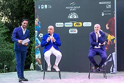 DAVIDE CAMICIOLI ADRIANO GALLIANI E GIUSEPPE MAROTTA  <br /> INAUGURAZIONE CALCIOMERCATO 2021 GRAND HOTEL RIMINI