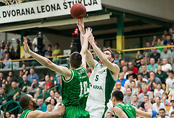 Paolo Marinelli of Petrol Olimpija during basketball match between KK Krka Novo mesto and  KK Petrol Olimpija in 4th Final game of Liga Nova KBM za prvaka 2017/18, on May 27, 2018 in Sports hall Leona Stuklja, Novo mesto, Slovenia. Photo by Vid Ponikvar / Sportida