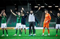 Players of Olimpija celebrate after winning during football match between NK Olimpija and ND Gorica in 1st Round of Prva liga Telekom Slovenije 2020/21, on September 30, 2020 in SRC Stozice, Ljubljana, Slovenia. Photo by Vid Ponikvar / Sportida