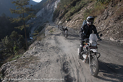 Sean Lichter on Day-7 of our Himalayan Heroes adventure riding from Tatopani to Pokhara, Nepal. Monday, November 12, 2018. Photography ©2018 Michael Lichter.