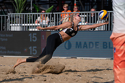 Juudit Kure - Pohhomov (1) of Estonia in action during CEV Continental Cup Final Day 1 - Women on June 23, 2021 in The Hague