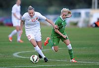 Fotball , 15. januar 2015 , privatkamp , kvinner , damer<br /> Norge - Irland<br /> Norway - Ireland<br /> Synne Jensen , Norge<br /> Denise O´Sullivan , Irland
