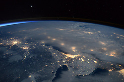 January 23, 2016 - Earth Atmosphere - Astronaut Scott Kelly posted this photo taken from the International Space Station to Twitter on January. 23, 2016 with the caption, Day 302. Blizzard2016 gave us an impressive view below. Stay warmGoodNight from  YearInSpace. (Credit Image: ? Scott Kelly/NASA via ZUMA Wire/ZUMAPRESS.com)