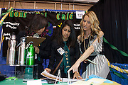 """During the International Trade Show , thousands of students from around the world exhibited and sold products and services of their virtual businesses in a competitive marketplace. The Trade Show was held at the 69th Regiment Armory in New York City during Virtual Enterprises International's Youth Business Summit on Thursday, March 29, 2012. Cat Greenleaf, NBC Universal Features Reporter and Host of NBC's """"Talk Stoop"""" was this year's celebrity guest. The winners of the National Business Plan Competition were announced."""