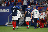 Olivier Giroud of France OUT and Paul Pogba of France during the 2018 Friendly Game football match between France and USA on June 9, 2018 at Groupama stadium in Decines-Charpieu near Lyon, France - Photo Romain Biard / Isports / ProSportsImages / DPPI