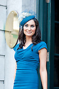 Brid Murray, Portumna at the Hotel Meyrick Most Stylish Lady event on ladies day of The Galway Races. Photo:Andrew Downes