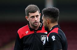 Frank Fielding and Scott Golbourne of Bristol City talk - Mandatory by-line: Robbie Stephenson/JMP - 23/08/2016 - FOOTBALL - Glanford Park - Scunthorpe, England - Scunthorpe United v Bristol City - EFL Cup second round