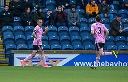Peterhead's Derek Lyle cele scoring their first half goal. Half time : Raith Rovers 2 v 1 Peterhead, Scottish Football League Division One played 4/1/2020 at Stark's Park, Kirkcaldy.