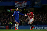 Alvaro Morata of Chelsea appeals the refereeing decision after his disallowed goal.<br /> Premier league match, Chelsea v Manchester United at Stamford Bridge in London on Sunday 5th November 2017.<br /> pic by Kieran Clarke, Andrew Orchard sports photography.