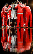 Dec 12, 2012; Houston, TX, USA; The Houston Rockets huddle up before the game against the Washington Wizards at the Toyota Center. Mandatory Credit: Thomas Campbell-USA TODAY Sports