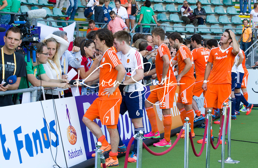 WK Den Haag ; Mixed zone. media, press, journalist,