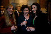 EMILY LAWSON, HORATIA LAWSON AND NIGELLA LAWSON, Book launch for AN APPEAL TO REASON, A Cool Look at Global Warming by Nigel Lawson. Hosted by NIGELLA LAWSON, DUCKWORTH PUBLISHERS and ED VICTOR LTD.<br />The Garrick Club. London. 16 April 2008.  *** Local Caption *** -DO NOT ARCHIVE-© Copyright Photograph by Dafydd Jones. 248 Clapham Rd. London SW9 0PZ. Tel 0207 820 0771. www.dafjones.com.