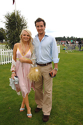 HANNAH SANDLING and OLIVER FELSTEAD at the Cartier International polo at Guards Polo Club, Windsor Great Park on 29th July 2007.<br /><br />NON EXCLUSIVE - WORLD RIGHTS