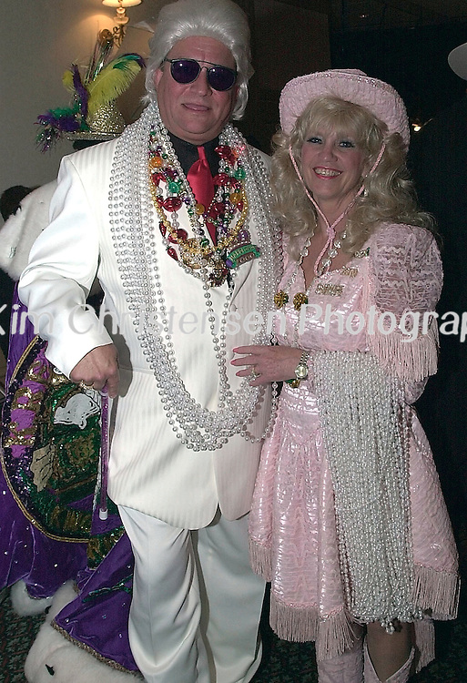 KIM CHRISTENSEN/For The Daily News.Krewe of Gambrinus 1 KC.Trent and Janet Morgan of Galveston dress up and attend the Krewe of Gambrinus Ball at the San Luis Resort Ballroom Saturday night in Galveston.