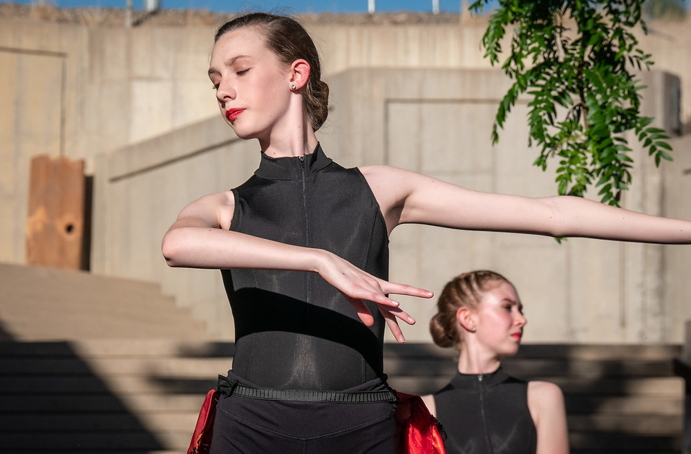 Young dancers perform outside the Pueblo Art Museum during the opening reception for the SOCO Tourism Summit.