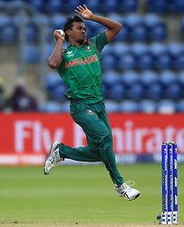 Bangladesh's Rubel Hossain during the ICC Champions Trophy, Group A match at Sophia Gardens, Cardiff.