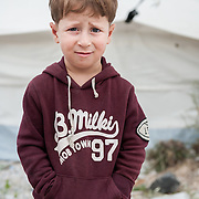 Hamad  3 years old from Iraq in Kara Tepe camp in Lesvos, Greece