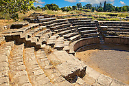 Roman Amphitheatre of Troy . Troy archaeological site, A UNESCO World Heritage Site, Turkey .<br /> <br /> If you prefer to buy from our ALAMY PHOTO LIBRARY  Collection visit : https://www.alamy.com/portfolio/paul-williams-funkystock/troy-archaeological-site-turkey.html<br /> <br /> Visit our ANCIENT WORLD PHOTO COLLECTIONS for more photos to download or buy as wall art prints https://funkystock.photoshelter.com/gallery-collection/Ancient-World-Art-Antiquities-Historic-Sites-Pictures-Images-of/C00006u26yqSkDOM