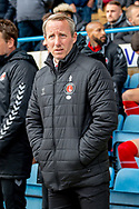 Charlton Athletic manager Lee Bowyer during the EFL Sky Bet League 1 match between Gillingham and Charlton Athletic at the MEMS Priestfield Stadium, Gillingham, England on 27 April 2019.