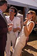 William Cash,  Stephen Webster and Anastasia Webster. Veuve Clicquot Gold Cup Final at Cowdray Park. Midhurst. 17 July 2005. ONE TIME USE ONLY - DO NOT ARCHIVE  © Copyright Photograph by Dafydd Jones 66 Stockwell Park Rd. London SW9 0DA Tel 020 7733 0108 www.dafjones.com