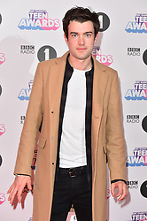 Jack Whitehall attending the BBC Radio 1 Teen Wards, at Wembley Arena, London. Picture date: Sunday October 22nd, 2017. Photo credit should read: Matt Crossick/ EMPICS Entertainment.